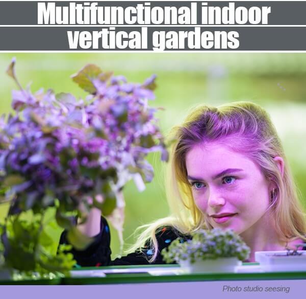 Multifunctional Indoor Vertical Gardens